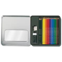 Faber-Castell POLYCHROMOS 16-Piece Mixed Media Kit