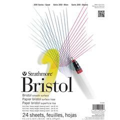 "Strathmore 200 Series 9"" x 12"" Tape Bound Smooth Surface Bristol Pad"