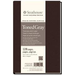 "5 1/2"" x 8 1/2"" Sewn Bound Toned Gray Sketch Art Journal"