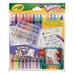 Crayola Twistables Mini Crayons Color 'n Paper Set