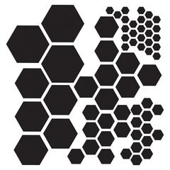 "12"" x 12"" Design Template Hexagons"