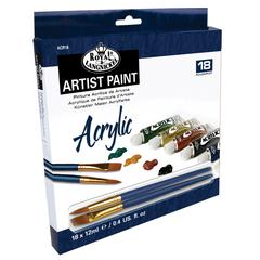 12ml Acrylic Paint 18-Color Set