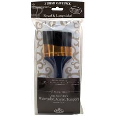 Angular Black Taklon Brush Set