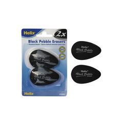 Black Pebble Erasers