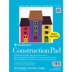 "9"" x 12"" Tape Bound Construction Paper Pad"