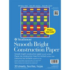 "8 1/2"" x 11"" Tape Bound Construction Paper Pad"
