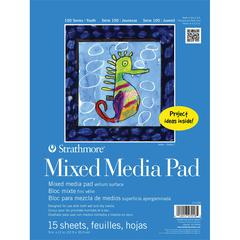 "Strathmore 100 Series 9"" x 12"" Tape Bound Mix Media Pad"