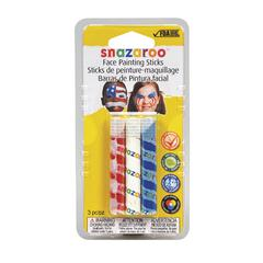 Snazaroo Face Painting 3-Stick Primary Set