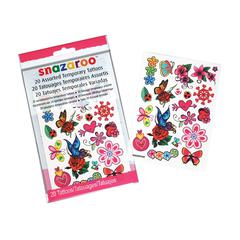 Snazaroo Flower & Butterfly Themed Temporary Tattoos