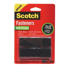 "Multi-Purpose Reclosable Black 3/4"" x 3"" Fasteners"