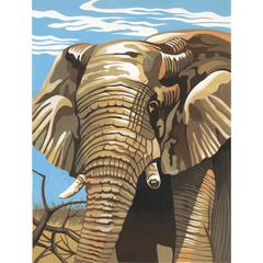 Medium Painting By Numbers Elephant