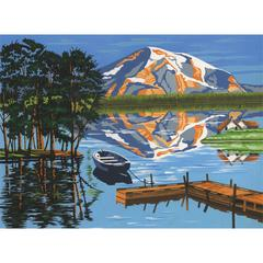 Reeves Large Acrylic Painting By Numbers Set Lake