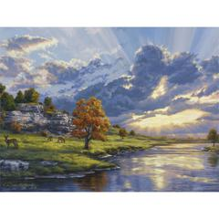 Large Painting By Numbers River's Edge
