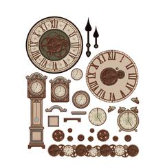 3-D Papier Tole Die Cuts Rustic Clocks