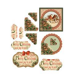 Hot Off the Press 3-D Papier Tole Die Cuts Christmas Cottages