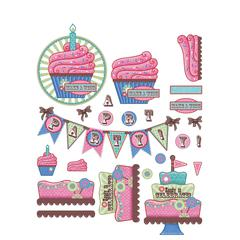 3-D Papier Tole Die Cuts Celebration
