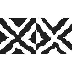 Wavy Squares Stencil Set