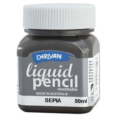 50ml Rewettable Sepia Liquid Pencil