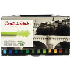 Pastel Crayon 12-Color Landscape Set