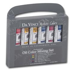 Da Vinci Artists' Oil Color Paint Warm and Cool 6-Color Set
