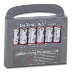 Da Vinci Artists' Watercolor Paint 6-Color Quinacridone Set