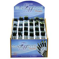 Dynasty Black Silver Blended Synthetic Decorative Brush Display Assortment