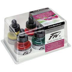 Liquid Artists' Acrylic Ink 6-Color Primary Set