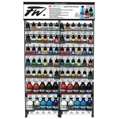FW Liquid Artists' and Pearlescent Acrylic Ink 1 oz. and 6 oz. Shelf Display Assortment