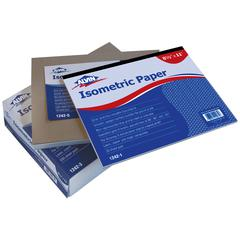 "Alvin Isometric Paper 500-Sheet Pack 8.5"" x 11"""
