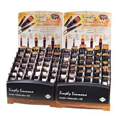Synthetic Acrylic and Multimedia Brush Display Assortment