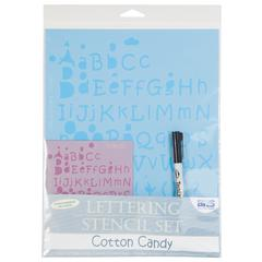 Value Lettering Stencil Set Cotton Candy