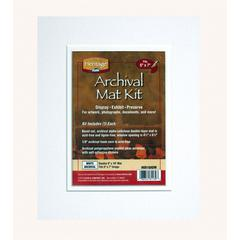 "Heritage Archival Series 8"" x 10"" Pre-Cut Double Layer White Mat Kit"