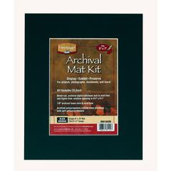 "Heritage Archival Series 8"" x 10"" Pre-Cut Single Layer Black Mat Kit"