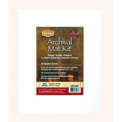 "Heritage Archival Series 8"" x 10"" Pre-Cut Single Layer White Mat Kit"