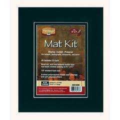 "Heritage Standard Series 8"" x 10"" Pre-Cut Double Layer Black Mat Kit"