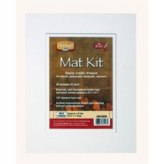 "8"" x 10"" Pre-Cut Double Layer White Mat Kit"