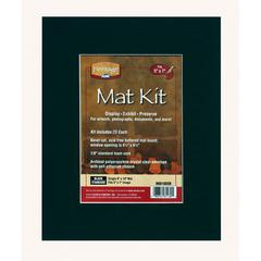 "Heritage Standard Series 8"" x 10"" Pre-Cut Single Layer Black Mat Kit"