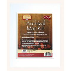 "Heritage Archival Series 11"" x 14"" Pre-Cut Double Layer White Mat Kit"