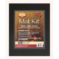 "Heritage Standard Series 11"" x 14"" Pre-Cut Double Layer Black Mat Kit"