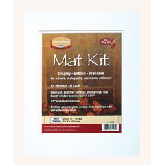 """11"""" x 14"""" Pre-Cut Double Layer White Mat Kit"""