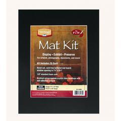 """11"""" x 14"""" Pre-Cut Single Layer Black Mat Kit"""