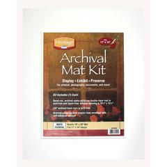 """Heritage Archival Series 16"""" x 20"""" Pre-Cut Double Layer White Mat Kit"""
