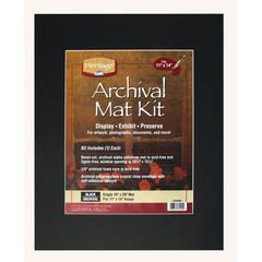 "Heritage Archival Series 16"" x 20"" Pre-Cut Single Layer Black Mat Kit"