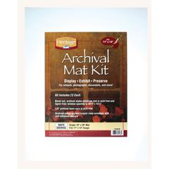 "Heritage Archival Series 16"" x 20"" Pre-Cut Single Layer White Mat Kit"