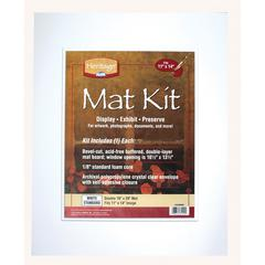 "16"" x 20"" Pre-Cut Double Layer White Mat Kit"