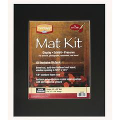 "16"" x 20"" Pre-Cut Single Layer Black Mat Kit"