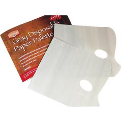 "Heritage Disposable Gray Paper Palette Pad 9"" x 12"""