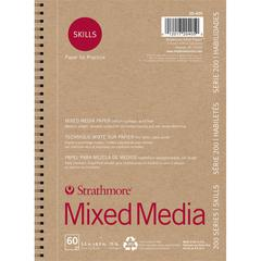 "Strathmore 200 Series Skills 5 1/2"" x 8 1/2"" Wire Bound Mixed Media Pad"