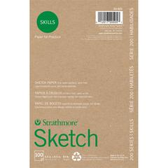 "Strathmore 200 Series Skills 5 1/2"" x 8 1/2"" Glue Bound Sketch Pad"