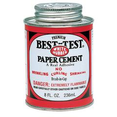 Best-Test Paper Cement with Brush in Cap 8oz